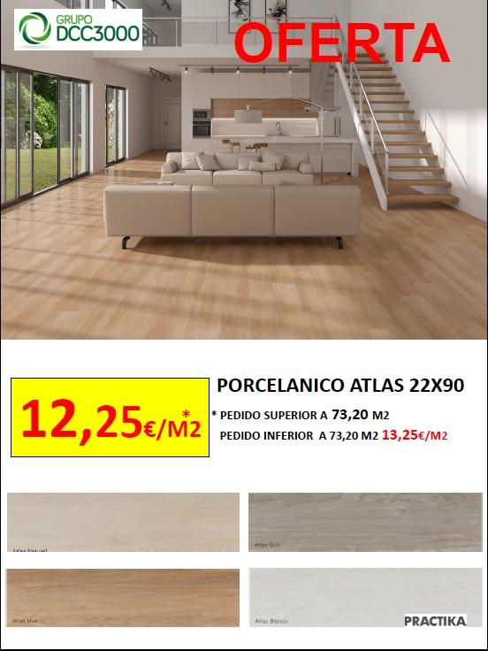 OFERTA!! PORCELANICO ATLAS 22X90