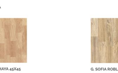 Serie SOFÍA, el gres porcelánico de efecto madera