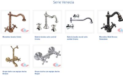 Serie Venecia, la grifería 'vintage' que vuelve a nuestros baños
